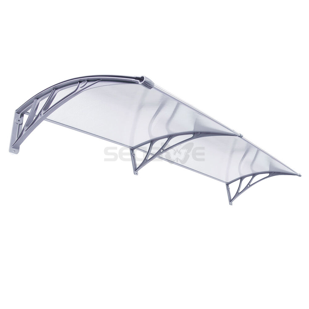 2x Outdoor Polycarbonate Front Door Window Awning Patio