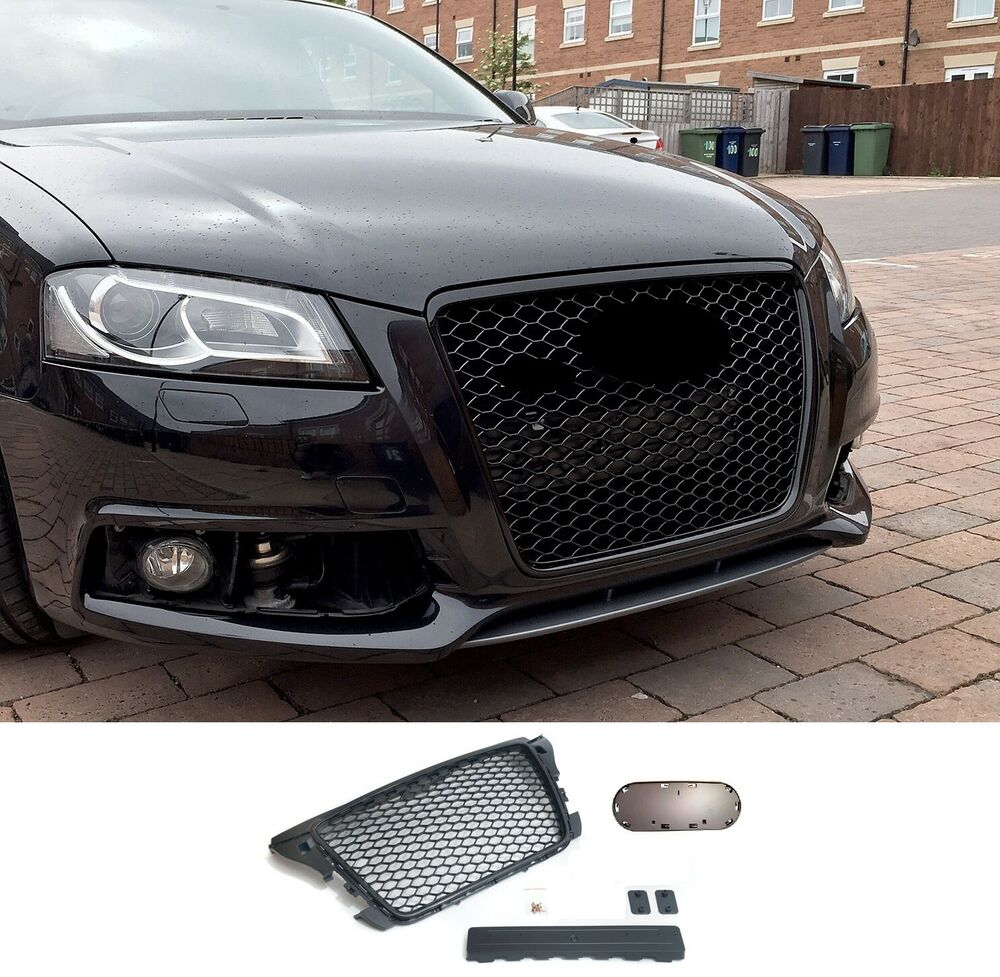 audi a3 8p facelift badgeless mesh grill debadged sport. Black Bedroom Furniture Sets. Home Design Ideas