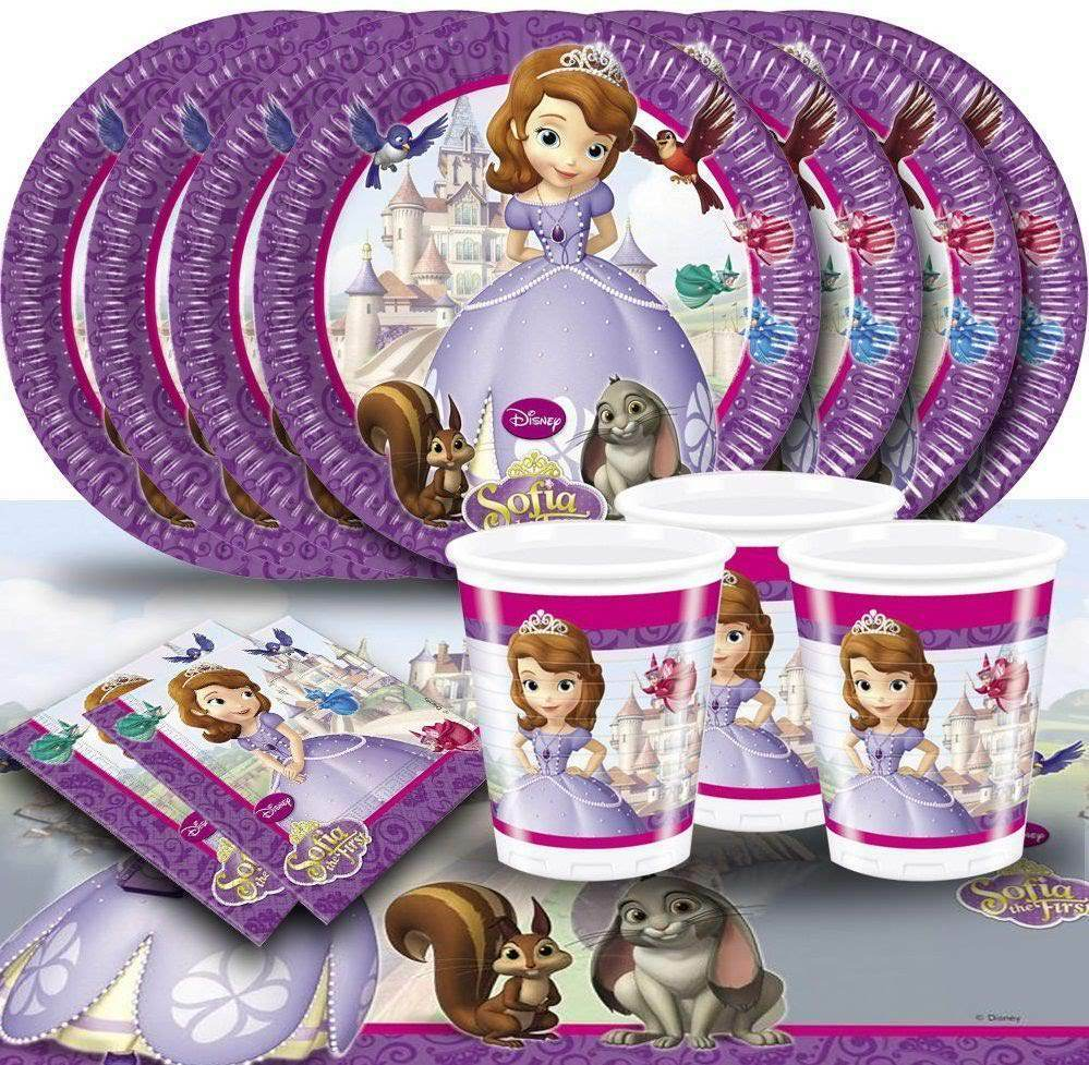 kids sofia the first disney princess girls birthday party supplies cups plates ebay. Black Bedroom Furniture Sets. Home Design Ideas