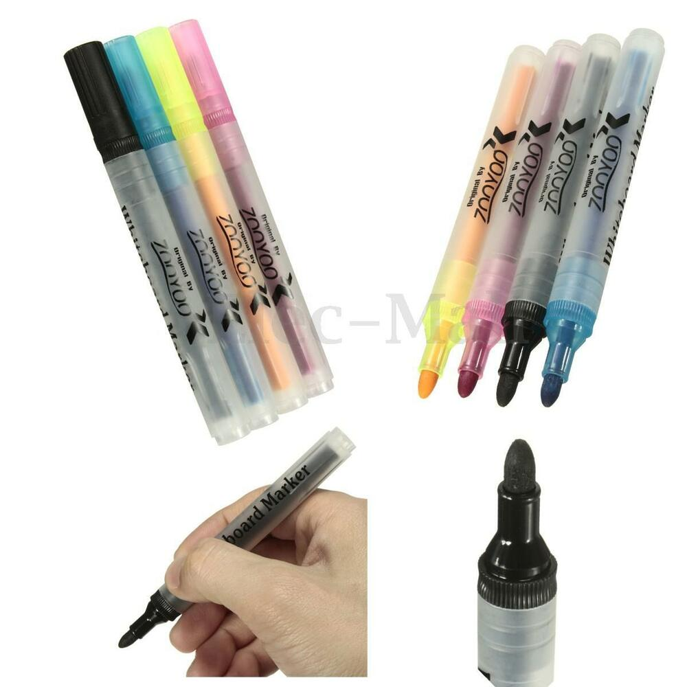 5 color led whiteboard marker liquid chalk pens dry wipe. Black Bedroom Furniture Sets. Home Design Ideas