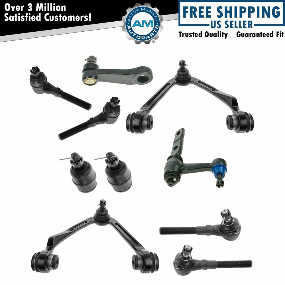 10 piece control arms ball joints tie rod ends pitman