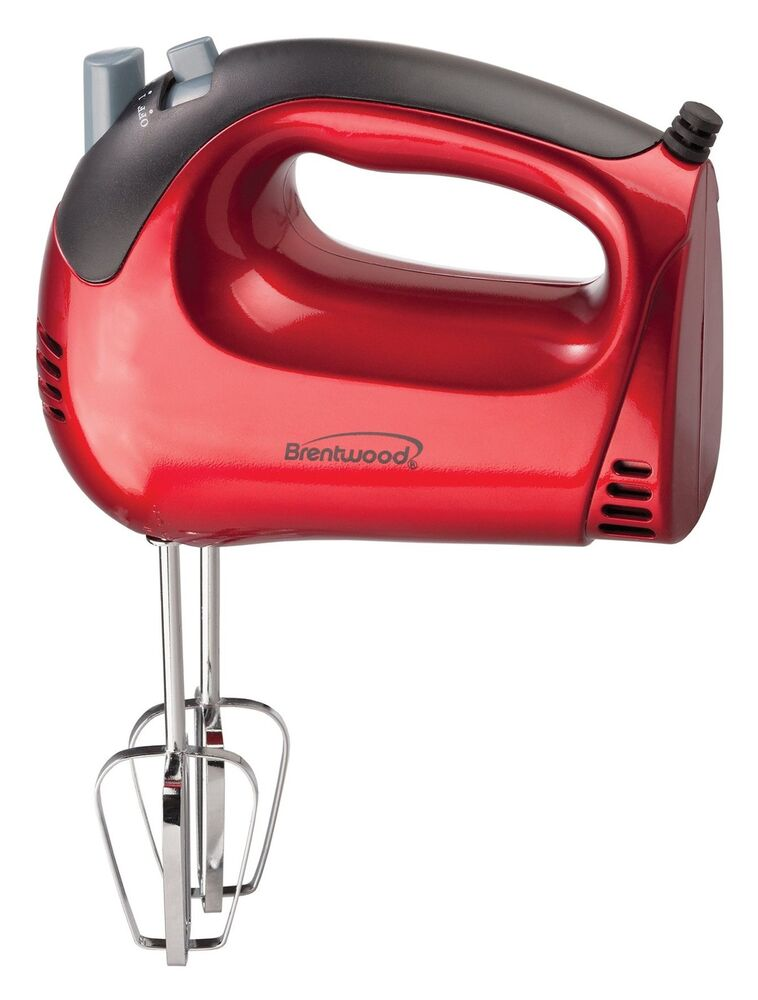 Electric Hand Mixers Kitchen ~ Brentwood red speed watt kitchen electric hand food