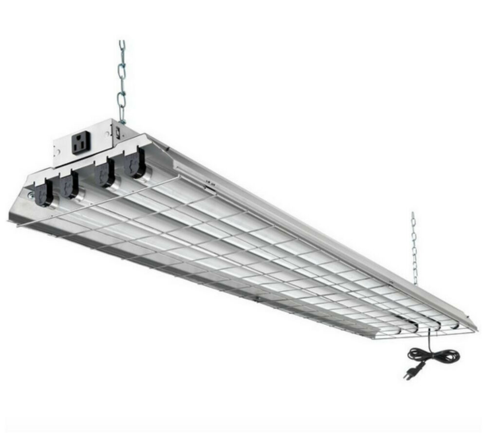4 Bulb Lamp T8 Led High Bay Warehouse Shop Garage: Lithonia Commercial Shop Garage Fluorescent Light Ceiling