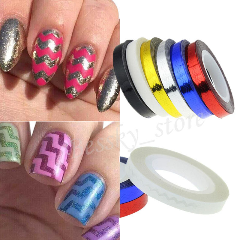 Striping Tape Line Nail Art: Rolls Striping Tape Line DIY 3D Nail Art Tips Decoration