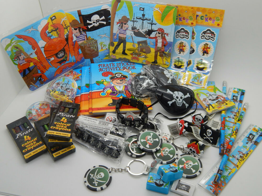 Pirate Toys For Boys : Mixed pirate themed party bag toys choose quantity treat