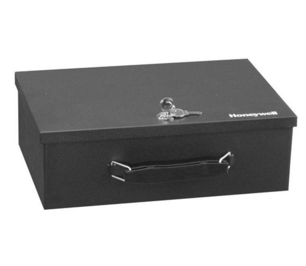 Honeywell home security safe key lock box fire cash money for Small safe box for home