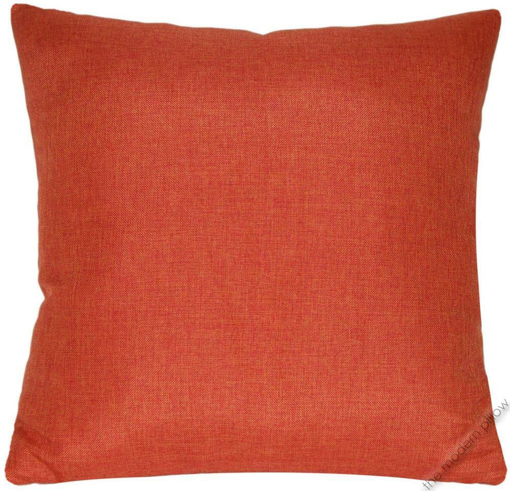 Throw Pillow Covers 20x20 : Orange Cosmo Linen Decorative Throw Pillow Cover/Cushion Cover 20x20