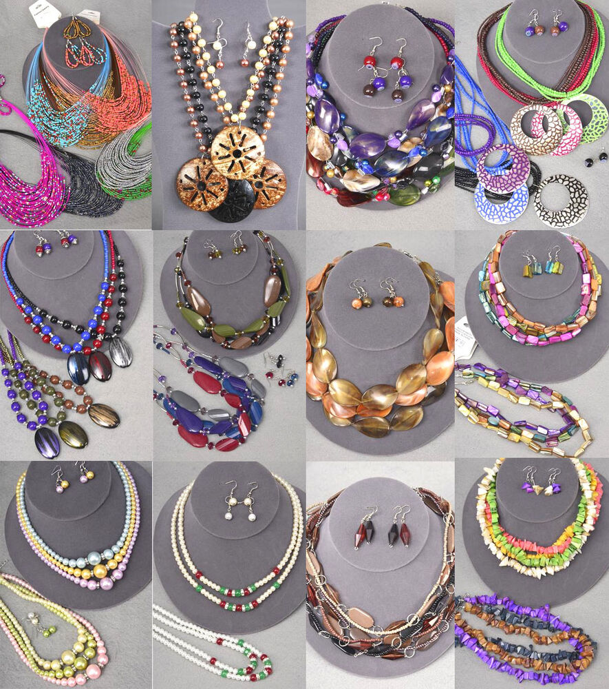 Special 40 Pc 20 Sets Wholesale Lot Costume Fashion Jewelry Necklace Earrings Ebay