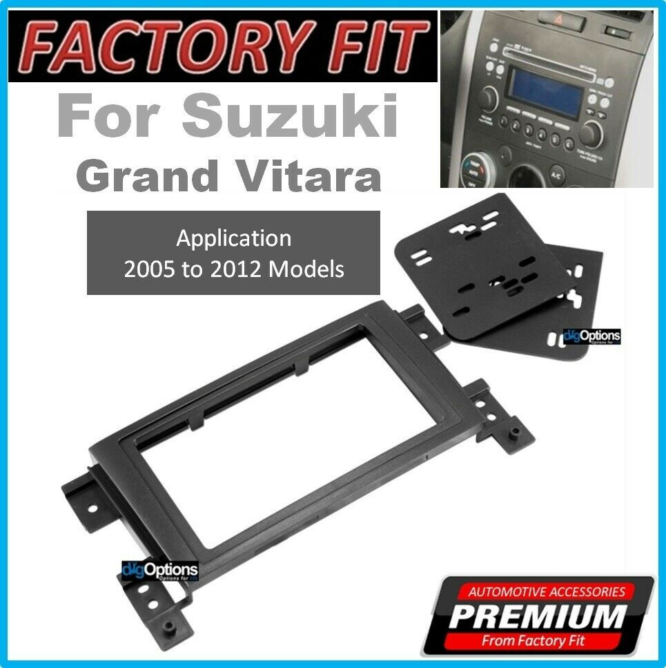 For Suzuki Grand Vitara Double Din Stereo Fascia Kit Dash Trim Panel Mazda 3 Cd Car Fitting Wiring Loom Ebay Facia