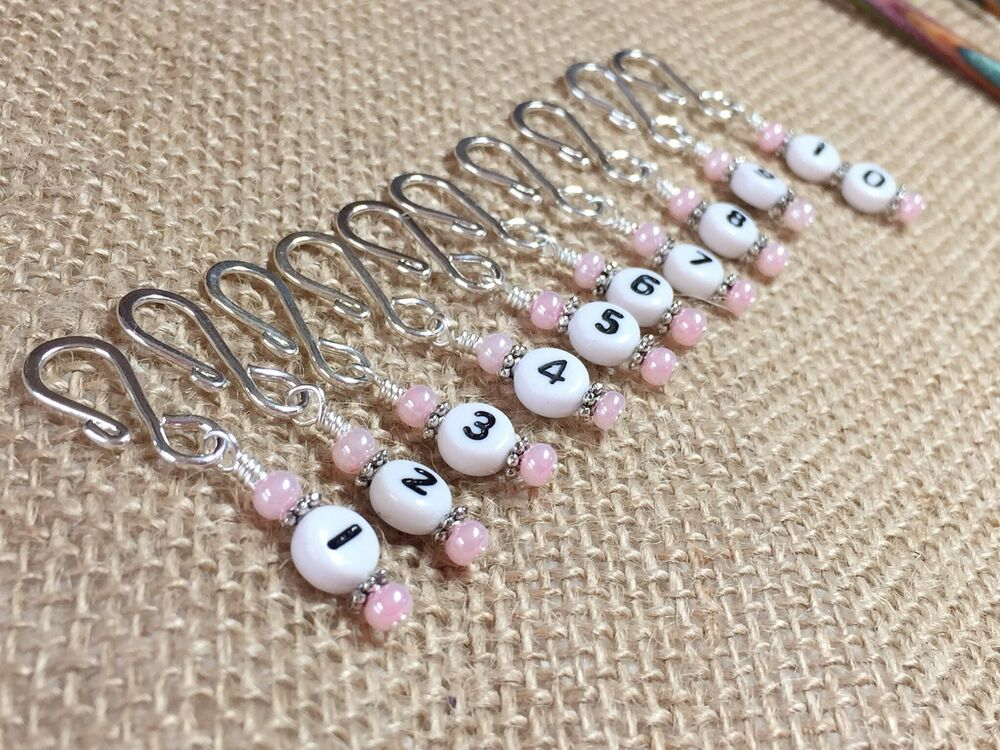 Crochet Row Counter : Row Counter Stitch Markers for Knitting & Crochet- Removable Number ...