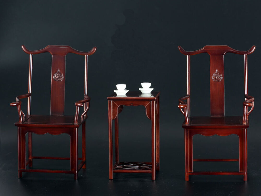 Custom 1 6 scale chinese style chair and table set for hot for 1 6 scale table