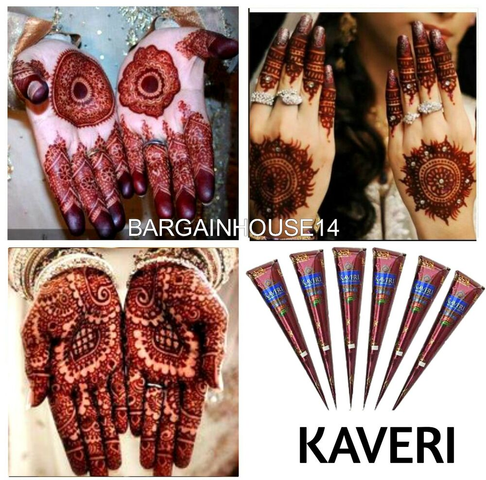 Henna Tattoo Color Brown: New ! Fresh Quality Kaveri Natural Henna Mehndi Tattoo