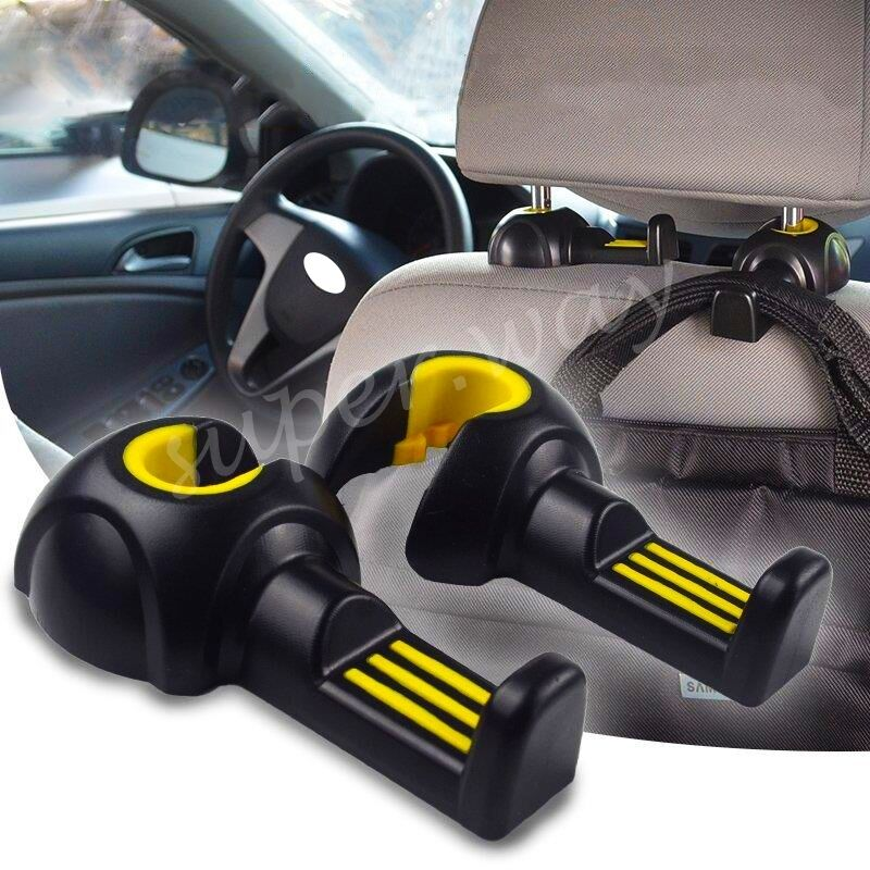 car interior hook black auto seat headrest holder convenient hanger accessories ebay. Black Bedroom Furniture Sets. Home Design Ideas
