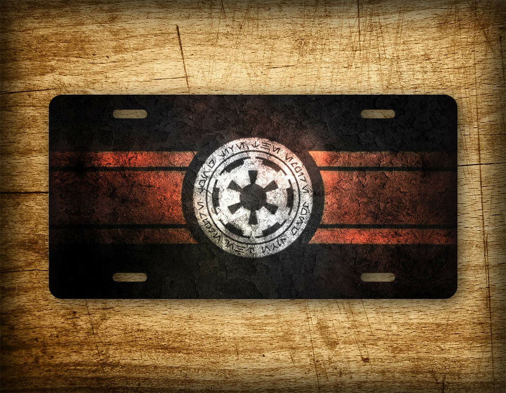Star Wars License Plate Galactic Empire Emperial Seal Auto