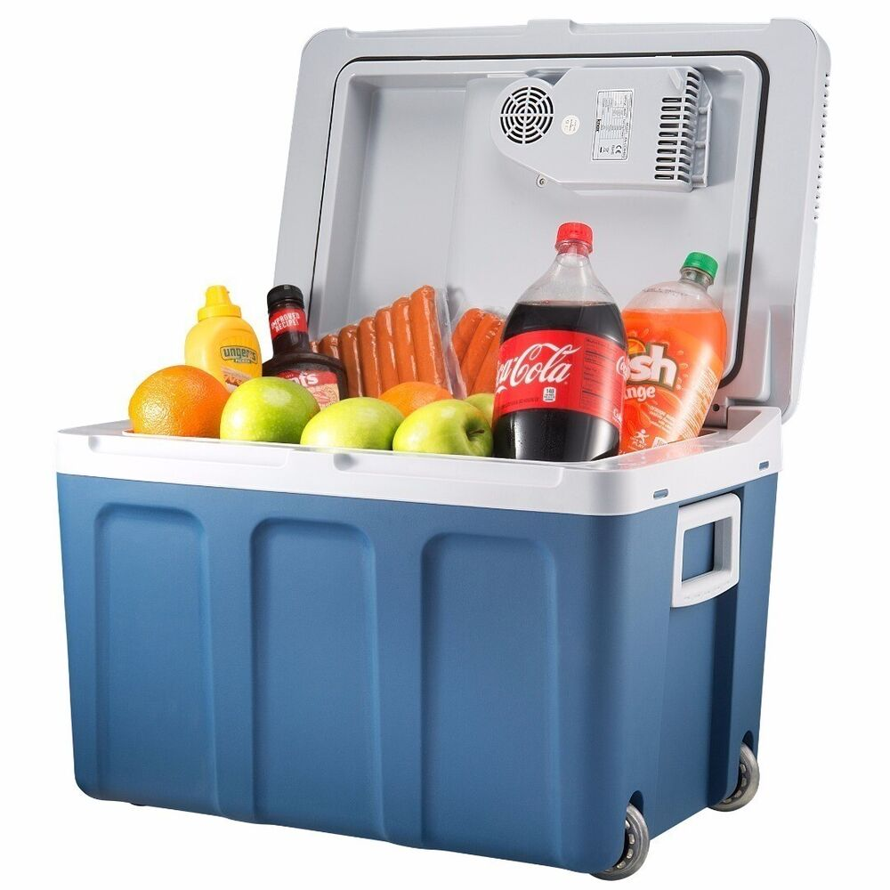 Plug In Cooler : Knox quart electric cooler with built in ac dc plug