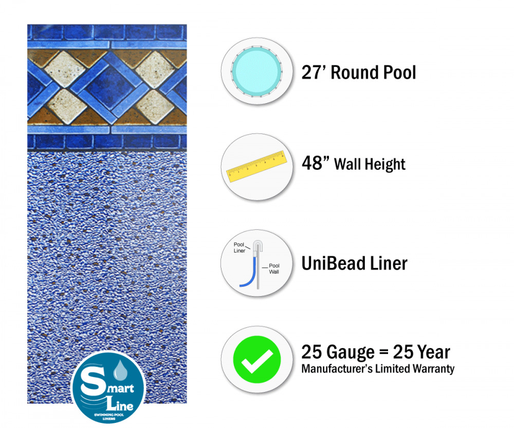 27x48 Quot Ft Round Unibead Mosaic Diamond Above Ground