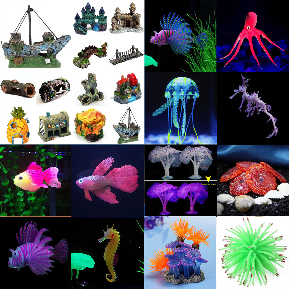 Artificial fish tank aquarium jellyfish coral plants for Fish tank coral decorations