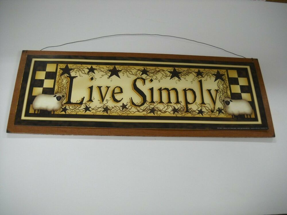 Live simply sheep and barn stars wooden wall art sign wood for Live simply wall art