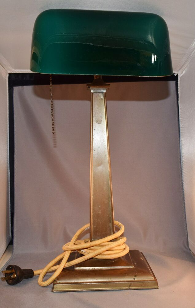emeralite vintage bankers desk lamp ebay. Black Bedroom Furniture Sets. Home Design Ideas