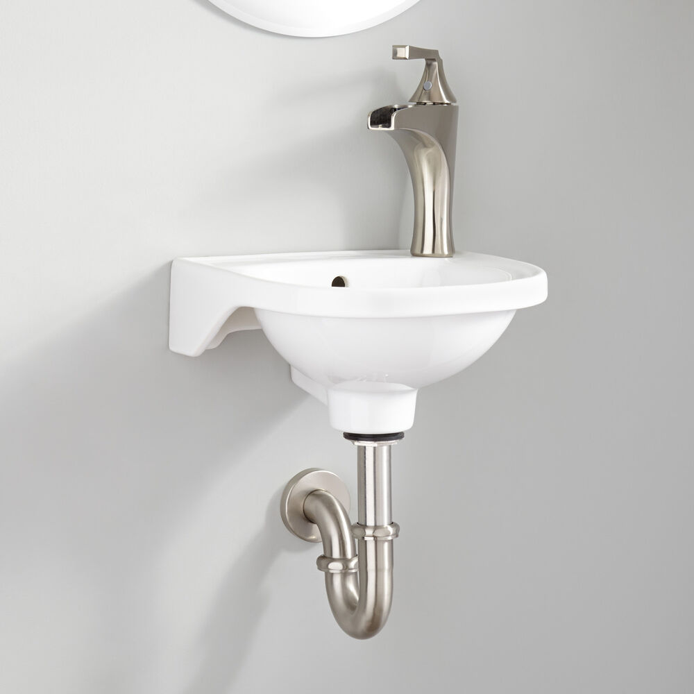 Signature Hardware Rosanna Small Porcelain Wall Mount Bathroom Sink In White Ebay