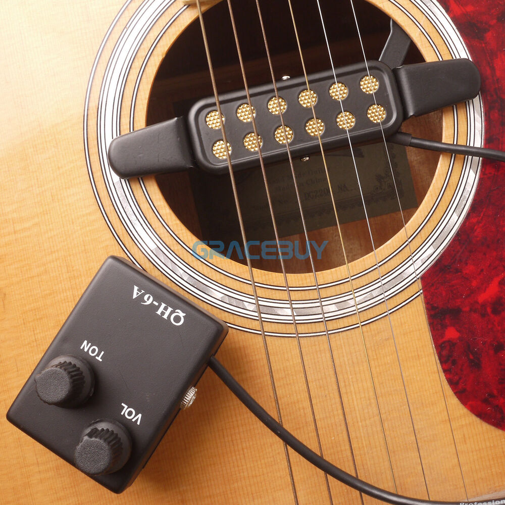acoustic guitar pickup magnetic preamp eq equalizer tuner qh 6a for sound hole ebay. Black Bedroom Furniture Sets. Home Design Ideas