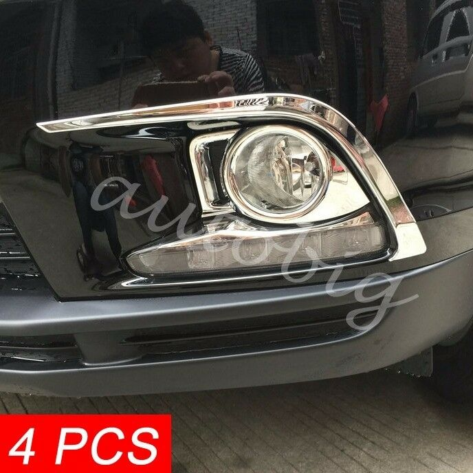 front fog light cover for toyota highlander kluger 2014 2016 accessories kit ebay. Black Bedroom Furniture Sets. Home Design Ideas