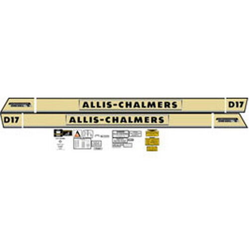 Allis Chalmers Decal Kits : New d series turbo allis chalmers tractor complete