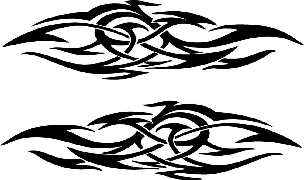 vehicle tribal flames vinyl decal sticker car truck boat graphics racing ebay. Black Bedroom Furniture Sets. Home Design Ideas