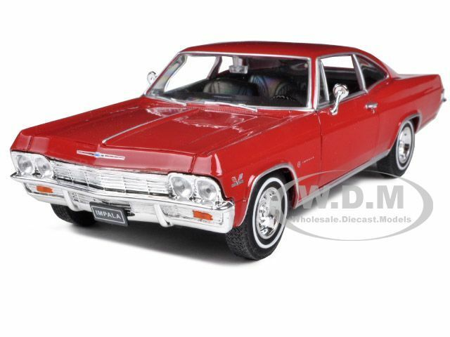 1965 chevrolet impala ss 396 red 1 24 diecast model car by. Black Bedroom Furniture Sets. Home Design Ideas