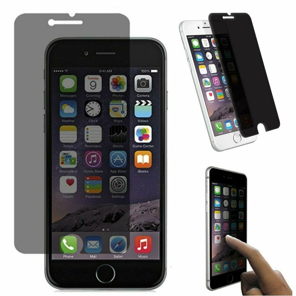 privacy anti spy lcd screen protector film for iphone 6 plus iphone 6s plus ebay. Black Bedroom Furniture Sets. Home Design Ideas