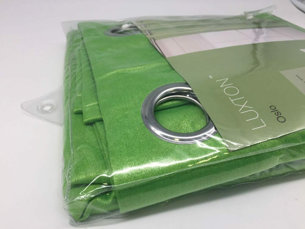 Oslo Lime Green Eyelet Blockout Curtain 140x221cm For