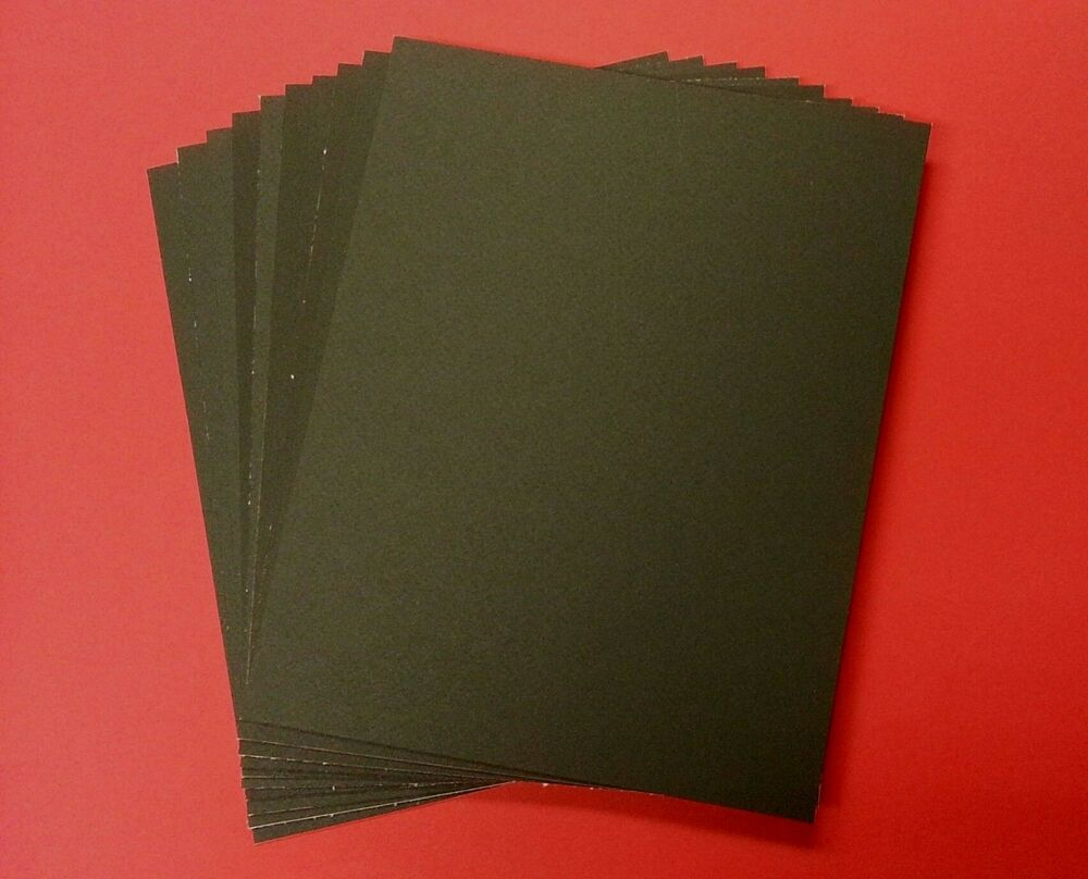 10 Uncut 11x14 Black Mat Board Regular Decorative Alkaline