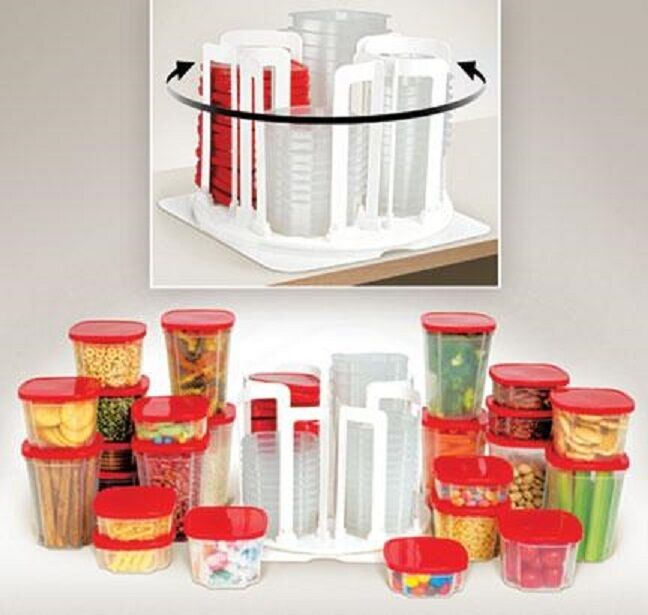 Set Of 24 Kitchen Food Storage Containers With Lids And