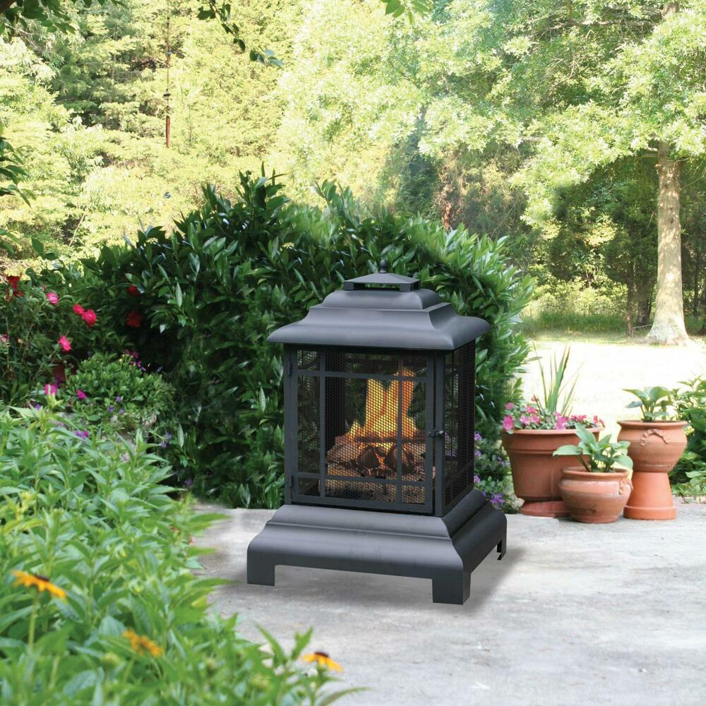 Outdoor Fire Pit Backyard Patio Fireplace Deck Wood Burning Heater Chiminea New Ebay