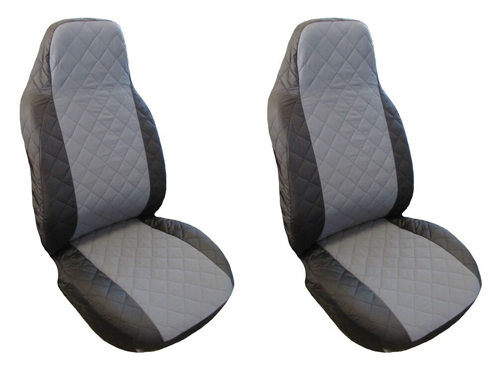 Ebay Car Seat Covers >> NEW FRONT Seat Covers Volkswagen VW T4 , T5 , T6 , Crafter 1+1 | eBay