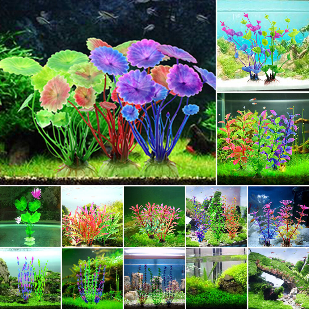 Artifical grass aquarium decor water weeds ornament for Aquarium decoration ornaments