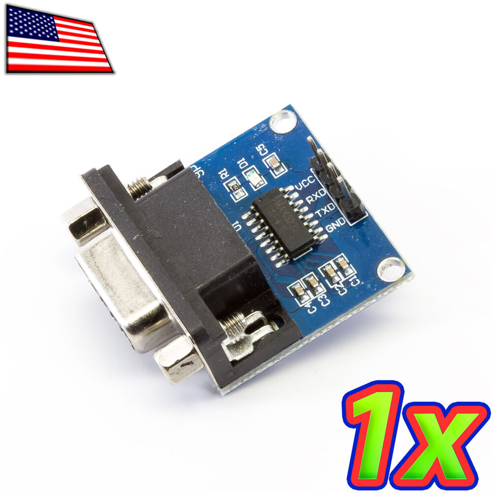 1x Max232 Db9 Rs232 To Serial Uart Ttl Converter Module 33 Level Using Ic 50v Io Ebay