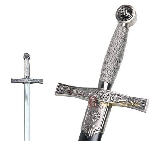 Crusader knight sword and medieval fantasy weapons t
