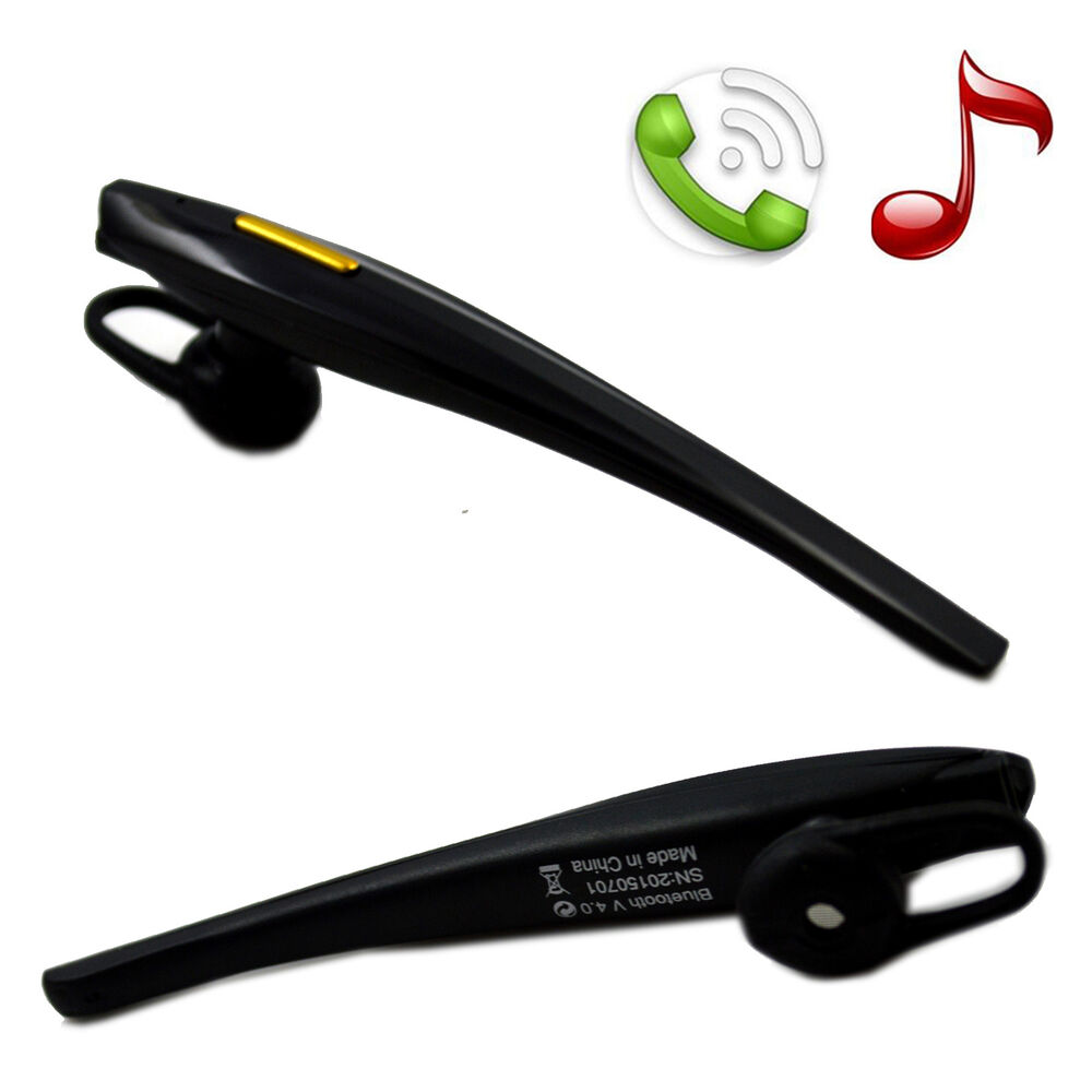 v4 0 music stereo bluetooth headset earpiece for samsung galaxy s6 edge s4 mi. Black Bedroom Furniture Sets. Home Design Ideas