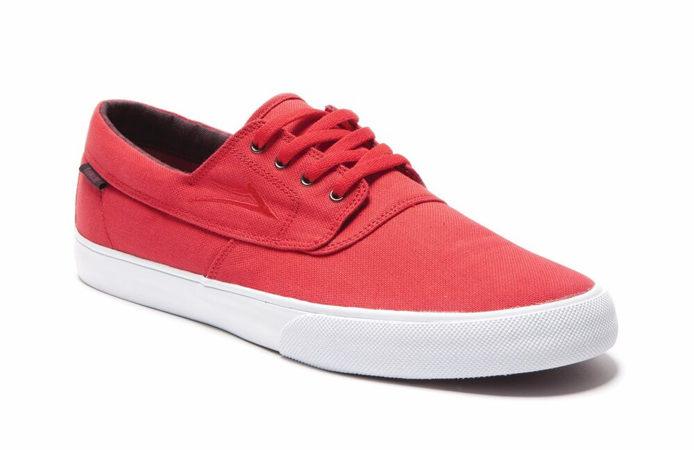 Lakai Camby red canvas Men s Vegan skateboard sneaker trainers US9 UK8  4348c3b06