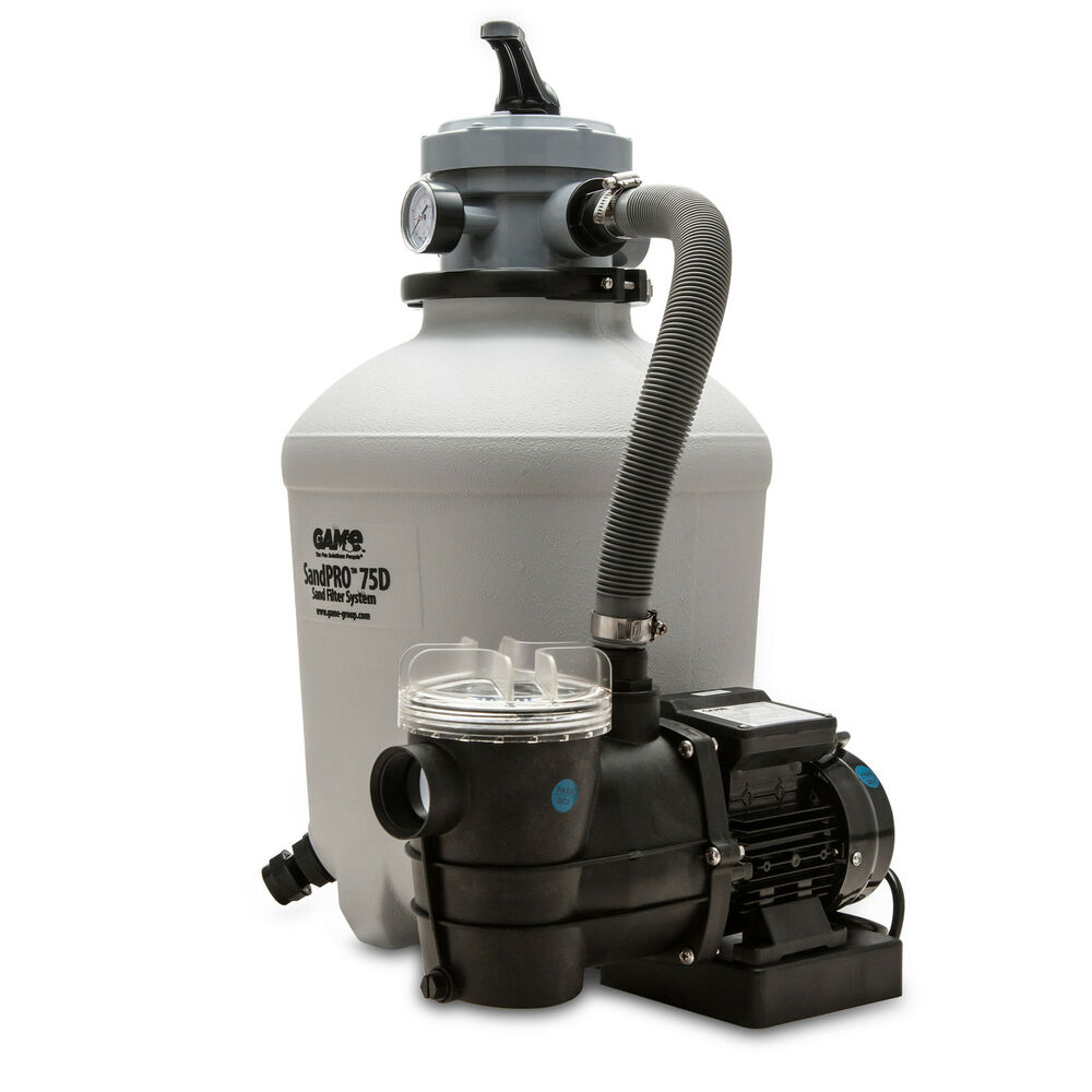 Game 75d sandpro above ground pool pump and sand filter kit ebay - Sandfilterpumpe fur pool ...