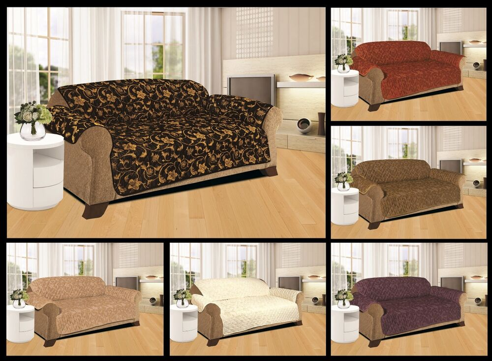 SOFA SLIP COVER / SOFA PET PROTECTOR (QUILTED JACQUARD) IN