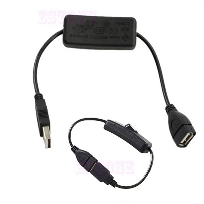 Pcs cable with on off switch toggle power control for