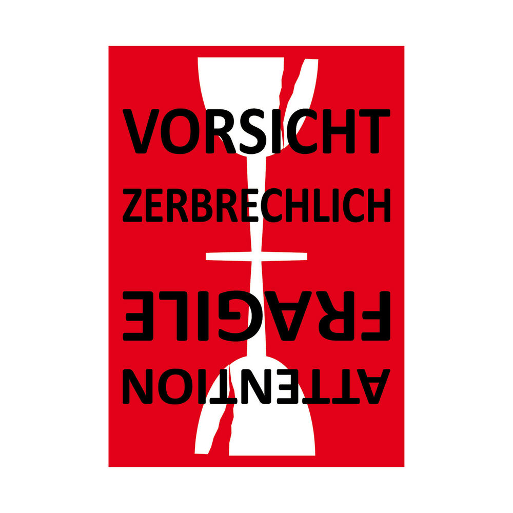 aufkleber sticker etiketten label vorsicht glas zerbrechlich versand umzug paket ebay. Black Bedroom Furniture Sets. Home Design Ideas