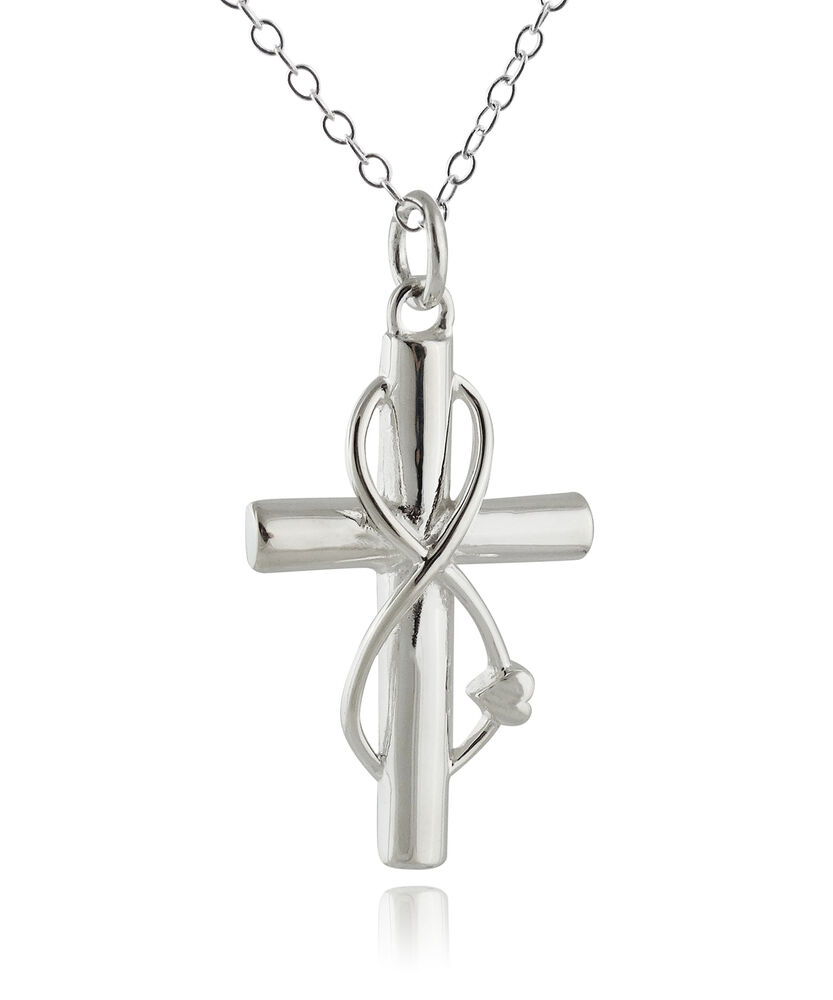 Infinity Sign And Cross Necklace