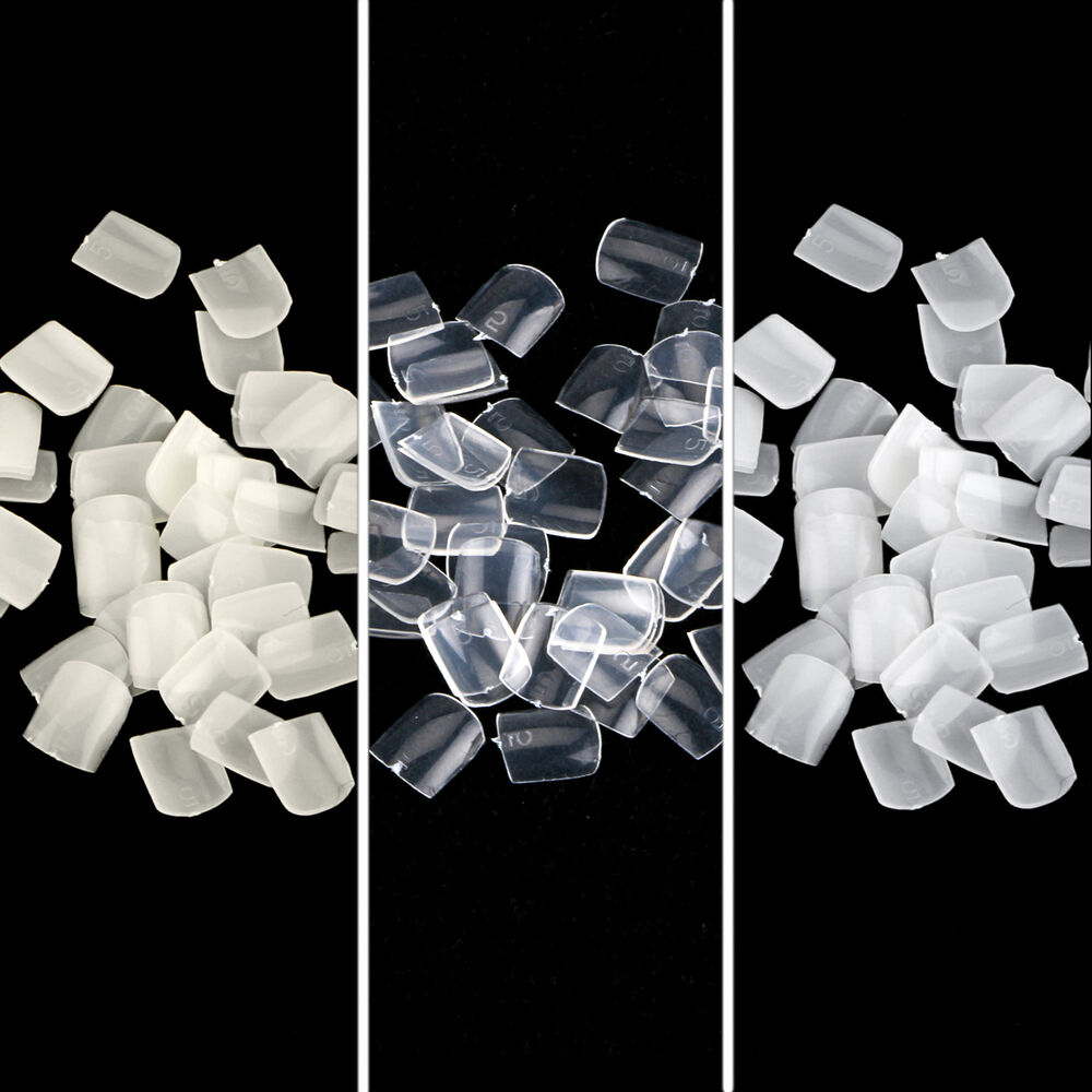 500pcs white clear natural salon acrylic french false toe for Acrylic toe nails salon