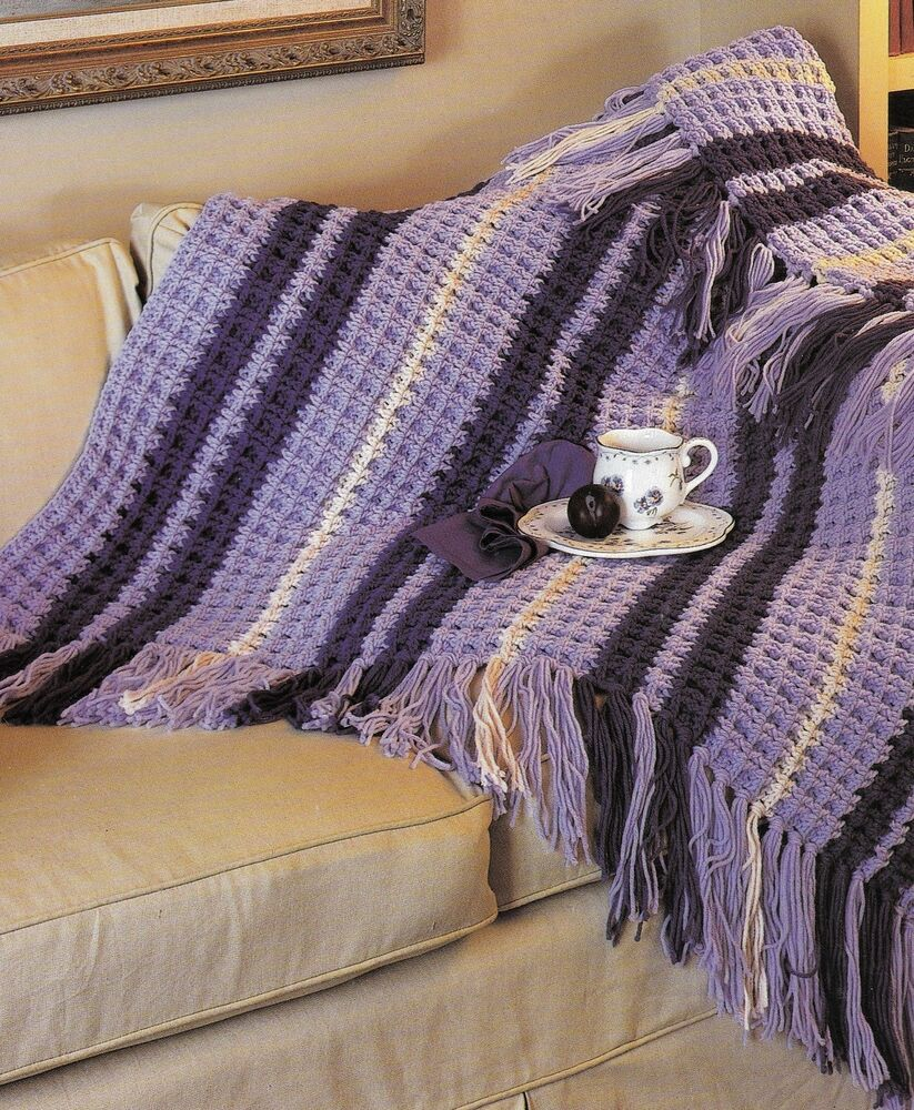 Quick Amp Cozy Stripe Afghan Crochet Pattern Instructions
