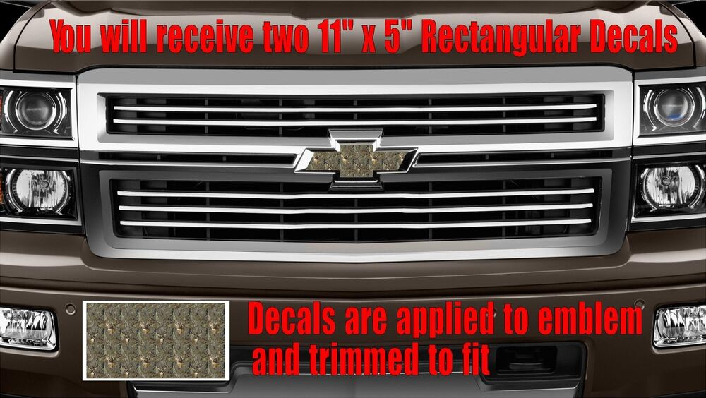chevy chevrolet bowtie tree camo deer emblem overlay. Black Bedroom Furniture Sets. Home Design Ideas