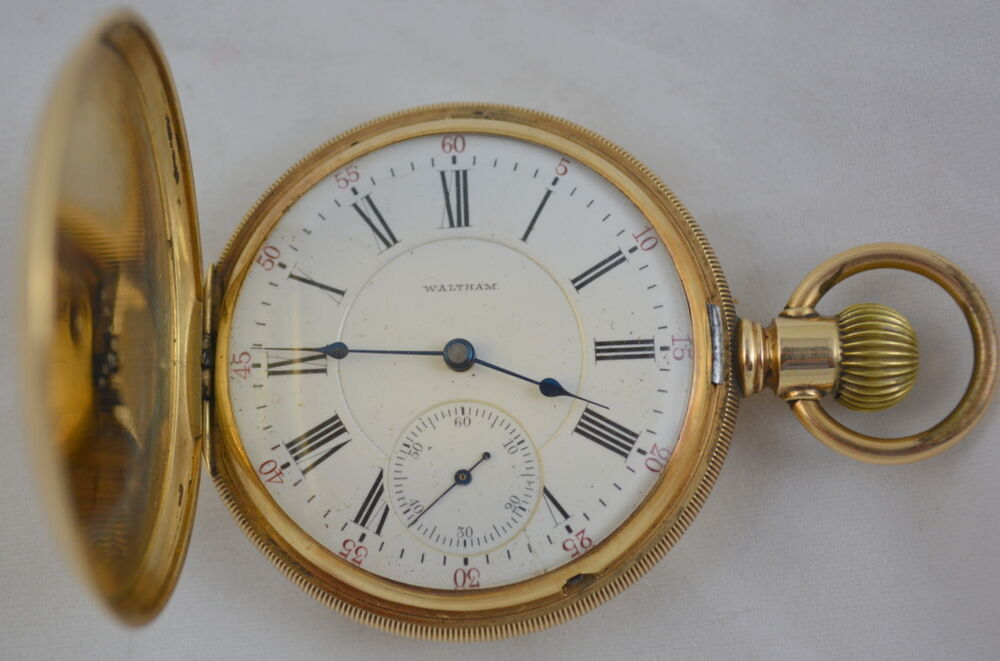 Antique Waltham Pocket Watch 14K Gold with Hunter Case ...