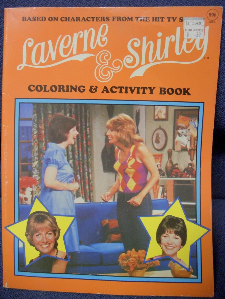 Laverne Amp Shirley Coloring Amp Activity Book 1983 Playmore